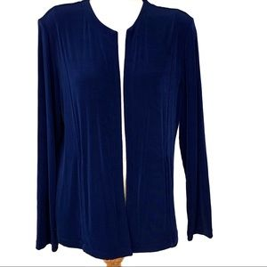 Chico's Travelers Blue Open Front Cardigan L (12)